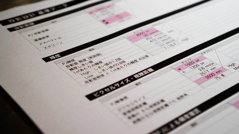 プロジェクションマッピング チェックリスト